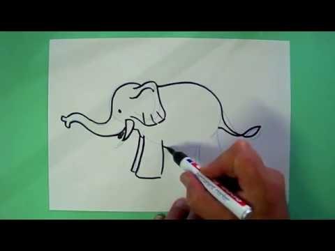 Wie Malt Man Einen Elefanten Zeichnen Fur Kinder Youtube