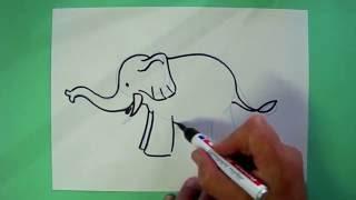 Wie malt man einen Elefanten? - Zeichnen für Kinder