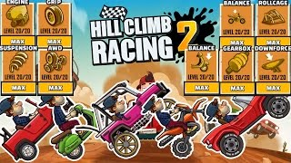 Hill Climb Racing 2 - All Vehicles Fully Upgraded