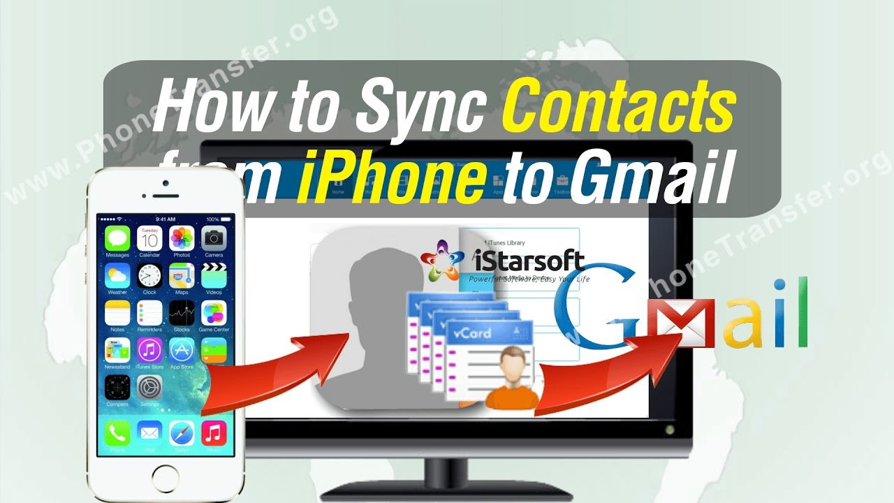 how to sync iphone contacts to gmail how to sync contacts from iphone to gmail 1354