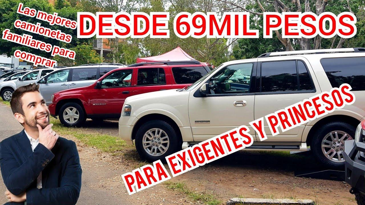 Las Mejores camionetas familiares EN VENTA precios tianguis de autos usados Ford chevrolet nissan
