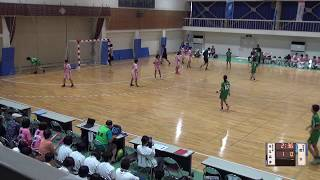 5日 ハンドボール女子 福島商業高校 市立高津×国分 1回戦