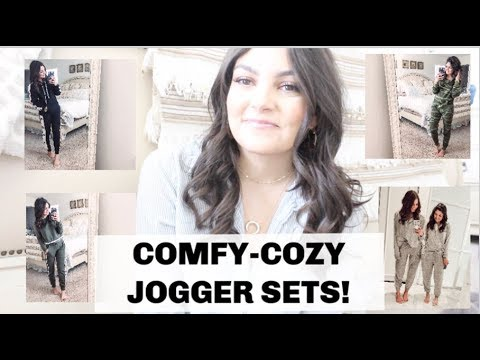 LIVING THAT COZY LIFE! | FAVORITE JOGGER SETS | UNDER $100 | MIX & MATCH!