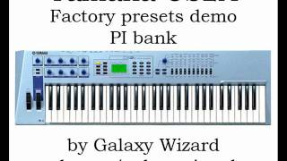 Yamaha CS2X factory presets demo (PI bank)