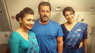 Salman Khan With Air Hostess During Flight From Maldives !