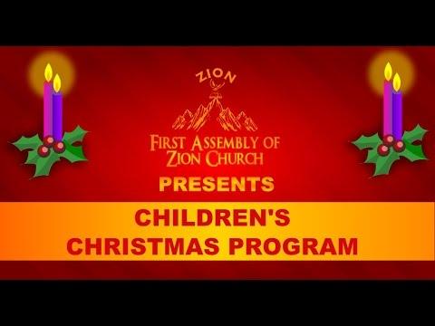 childrens church christmas program