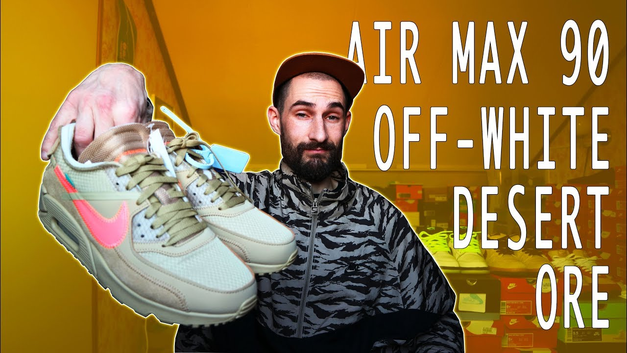 Off White Air Max 90 Desert Ore Unboxing + Review + On Feet Mr Stoltz 2019