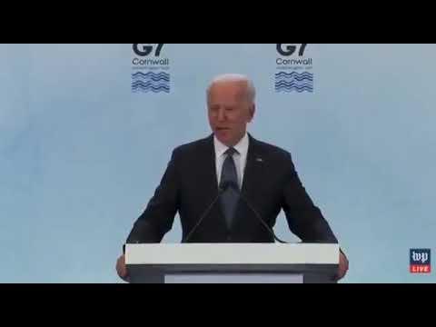 """El """"presidente"""" de USA, Juan Bidé, dice lo que es el Covid"""