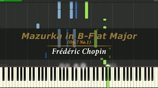 Mazurka in B-Flat Major - Chopin (Op.7 No.1) [Piano Tutorial]