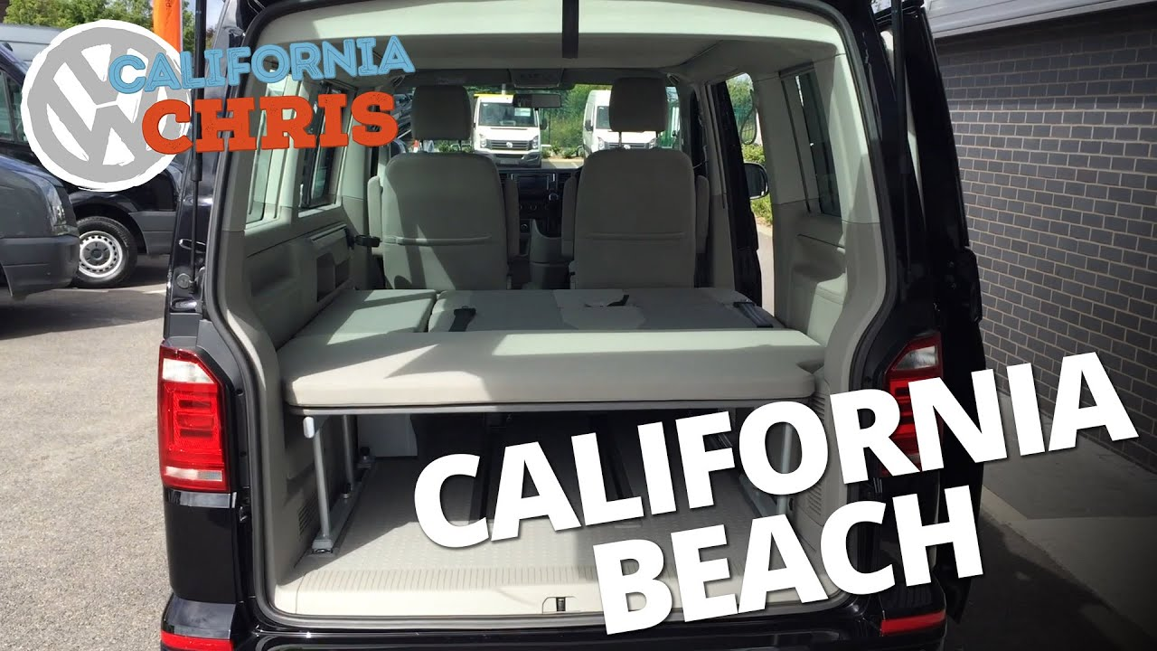2016 volkswagen t6 california beach 2 seat bench video. Black Bedroom Furniture Sets. Home Design Ideas