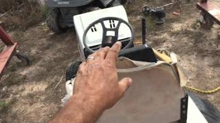 how to locate the model or serial number on a riding lawn mower