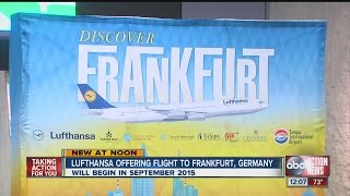 Tampa International Airport adds direct flight to Frankfurt, Germany via Lufthansa
