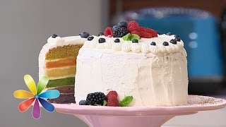 видео Торт Цветная радуга на детский день рождения
