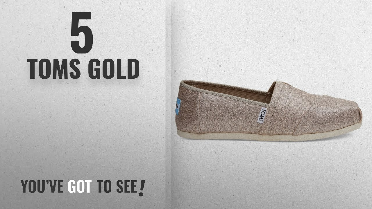 2c8ed1ad7dc8 Top 5 Toms Gold  2018   Toms Women s Rose Gold Glimmer Classic ...