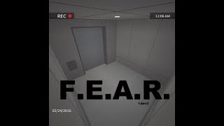 Roblox horror map F.E.A.R (DO NOT PLAY THIS AT 3AM!)