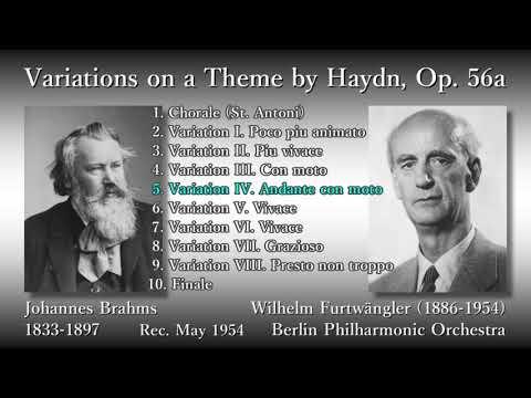 Brahms: Variations on a Theme by Haydn, Furtwängler & BPO (1954) ブラームス ハイドン変奏曲 フルトヴェングラー