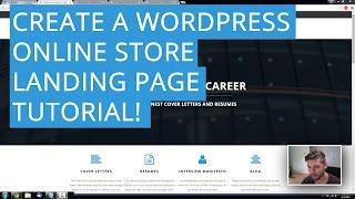 كيفية إنشاء وورد متجر على الانترنت الصفحة المقصودة | التجارة الإلكترونية البرنامج التعليمي! 2015