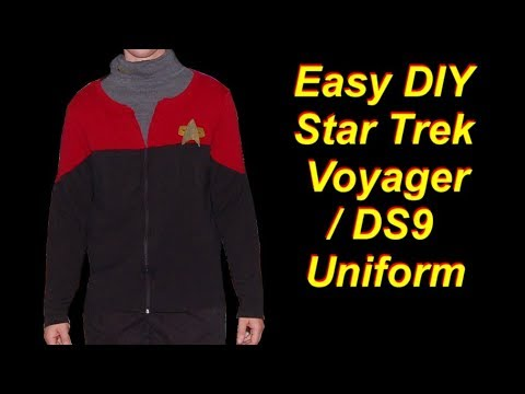 Cheap and Easy DIY Star Trek Voyager / DS9 Uniform