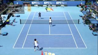 Virtua Tennis 2009 HD - Online Doubles - part 1