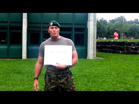 Ice Bucket Challenge Infanterie Offiziersschule