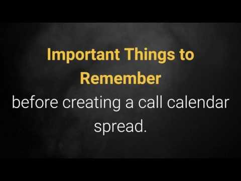 The Call Calendar Spread Option Strategy