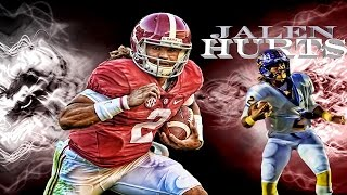 Alabama QB Jalen Hurts was UNSTOPPABLE in high school - REMIX