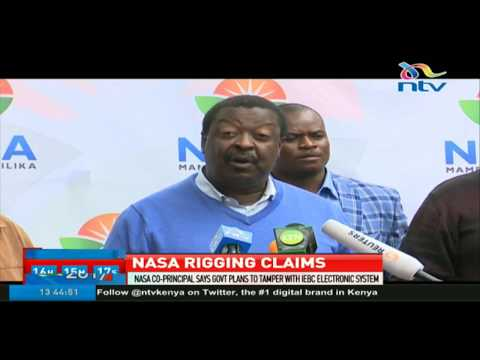 Nasa co-principal says government plans to tamper with IEBC electronic system