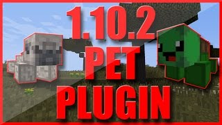 MINIATURE PETS PLUGIN REVIEW | MINECRAFT CUSTOM MOB PETS PLUGIN | MINECRAFT 1.10.2 PLUGIN REVIEW