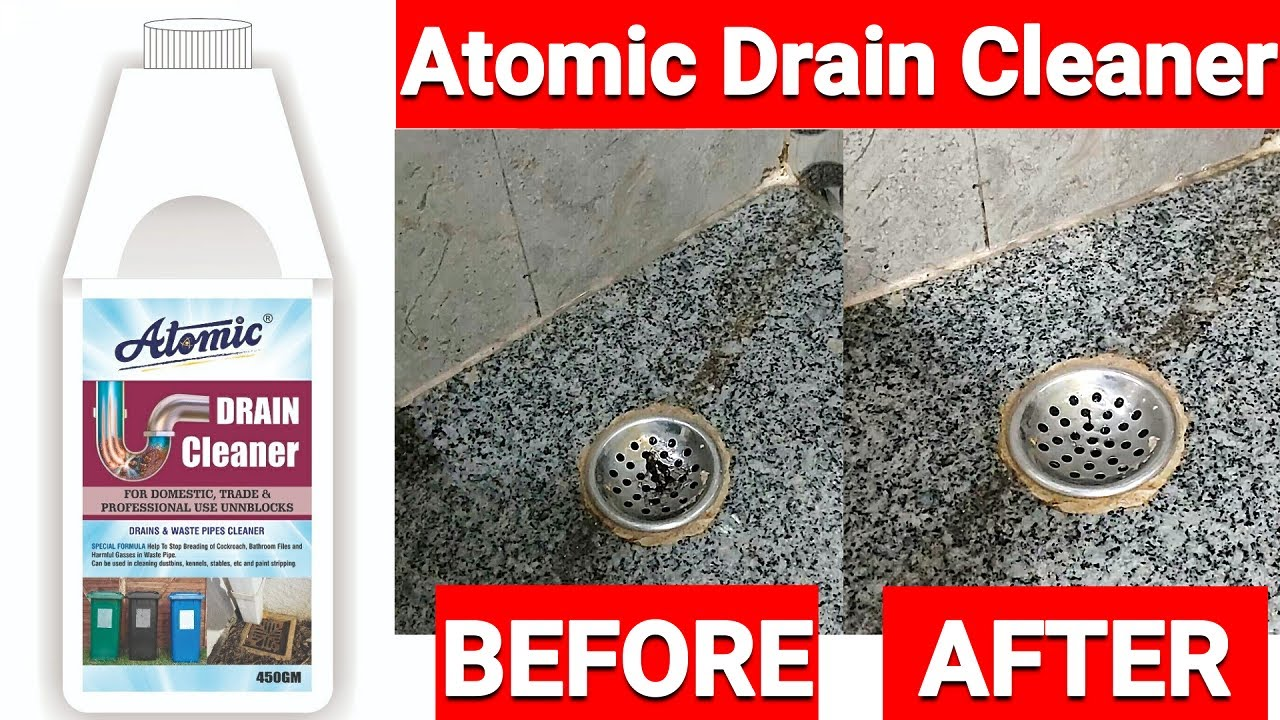 Atomic Drain Cleaner Powder To Clear Clogged Drains Sinks And Pipes Youtube
