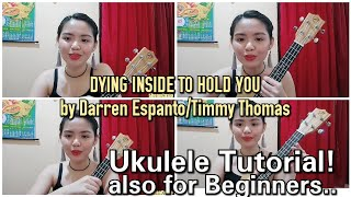 DYING INSIDE TO HOLD YOU | Ukulele TUTORIAL for beginners + how to Strumm by Shean Casio