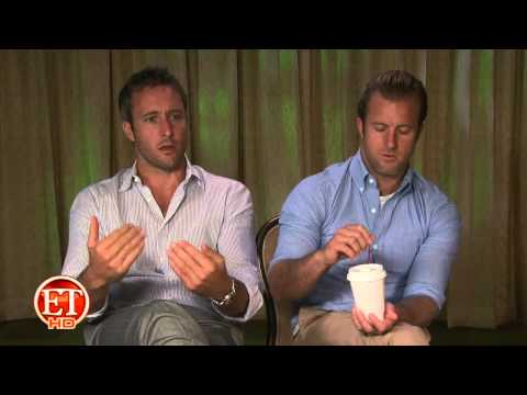 Alex O'Loughlin and Scott Caan on ET
