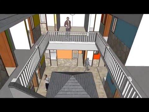 Desain Rumah Kos dua lantai by astudioarchitect.com