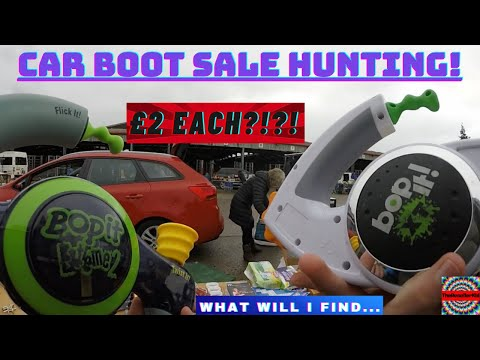 Car Boot Sale Hunting! | Don't Forget To Bop It! | Array Of Electronic Finds | GoPro Footage | Ep 31