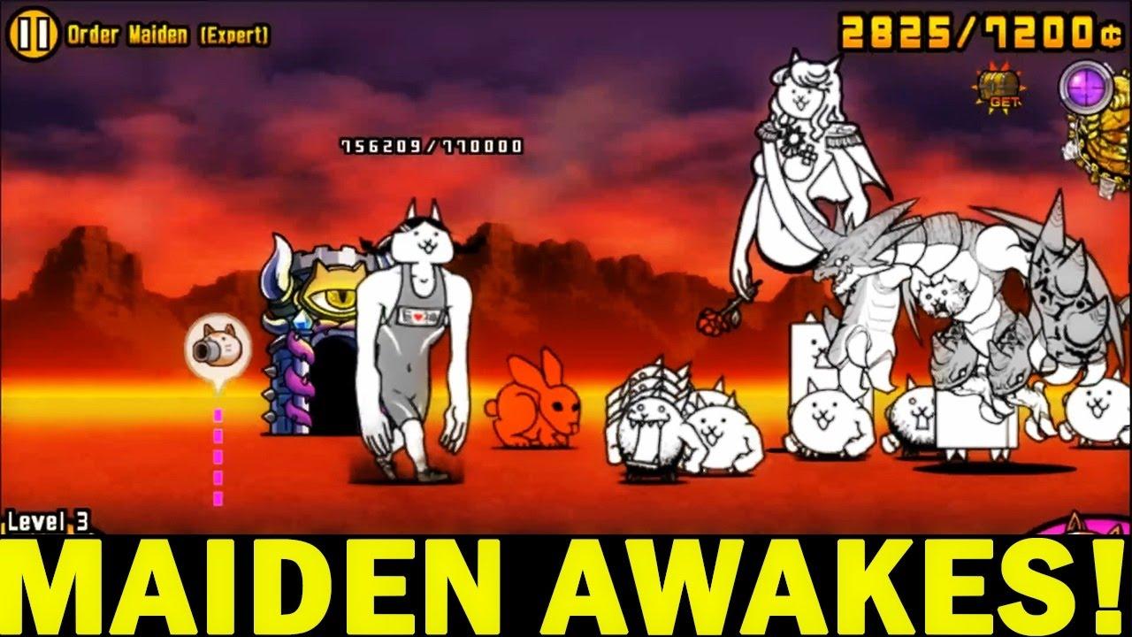 The Battle Cats   Maiden Awakes!   Unlock Maiden Cat's True Form ...