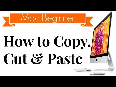 How to Copy & Paste on Mac - OS X Beginner Tip