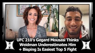 UFC 210's Gegard Mousasi Thinks Weidman Underestimates Him, Bisping Is Weakest Fighter In MW Top 5