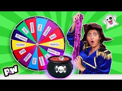 Mystery Wheel of HALLOWEEN Slime Challenge (SWITCH UP)