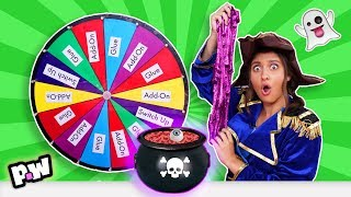 Mystery Wheel of HALLOWEEN Slime Challenge (SWITCH UP)