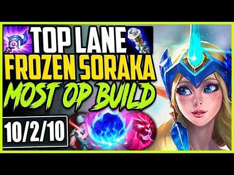 TOP LANE WINTER WONDER SORAKA | MOST OP SORAKA SEASON 9 BUILD | LoL Top Soraka Season 9 Gameplay