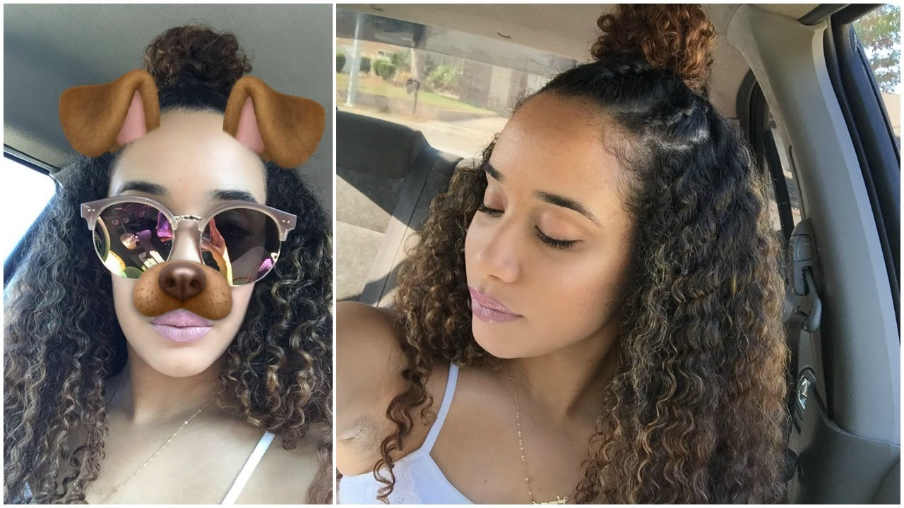 Braided Bun Hairstyle for Curly Hair - YouTube