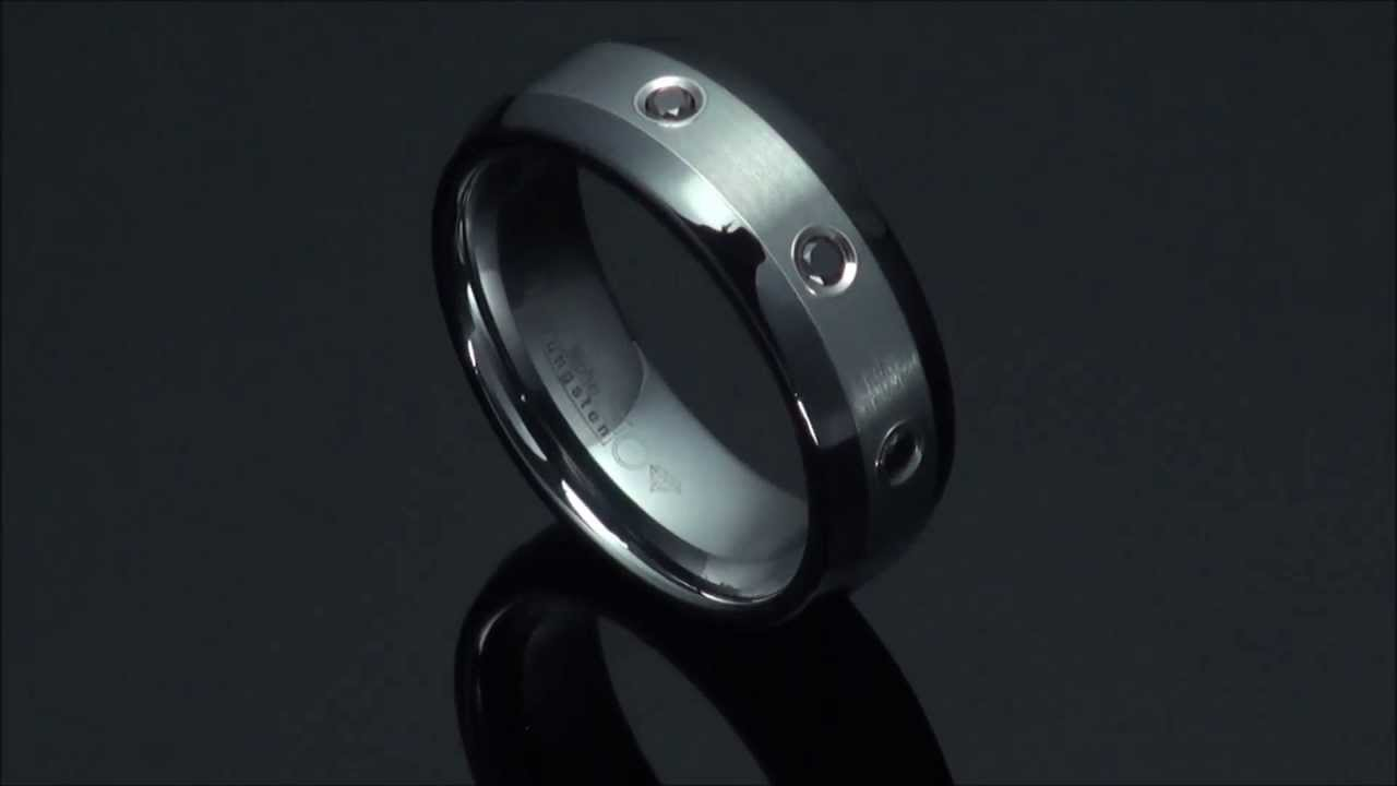castor tungsten ring faceted cut men for diamond carbide domed