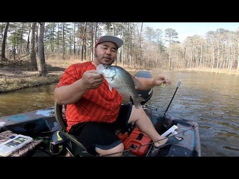 LIMITED OUT CRAPPIE FISHING | Jordan Lake NC | Spring Crappie On Artificial Baits