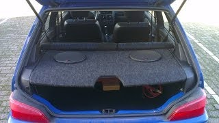 Custom Parcel Shelf Build With Speakers