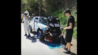 Valsugana Historic Rally 2018 - camera car A112
