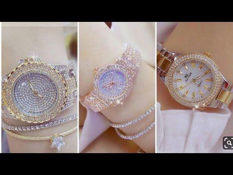 Women's Stylish/beautiful/diamond Wrist Watch Design For Eid 2019. Watches For Eid 2019.