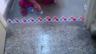 Colorful Border Rangoli Designs 7