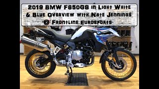1st 2019 BMW F850GS in Light White & Blue Overview @ Frontline Eurosports wih Nate Jennings