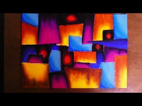 Very Easy Cubism Abstract Painting | Contemporary Art Style
