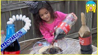 Experiment: Coca Cola Vs Mentos by Sam and Abby