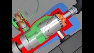3D фильм. Бесшатунный Двигатель. The non-standard engine.
